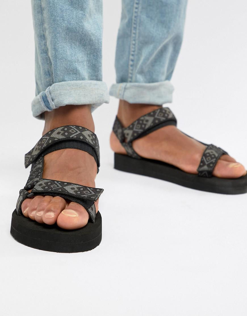 fb8920423d3 ASOS Tech Sandals In Aztec Tape in Black for Men - Lyst