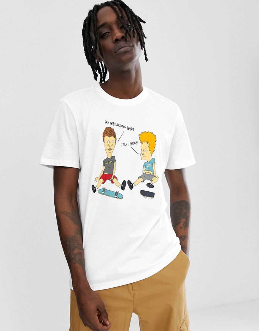 fc07db92 adidas Originals Beavis And Butthead T-shirt White Du2858 in White ...