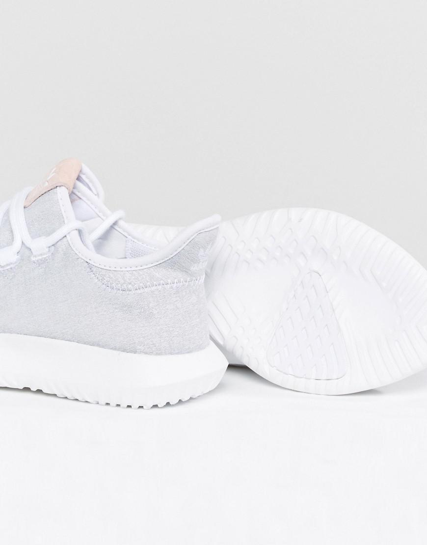 02e59cef645 adidas Originals Originals Tubular Shadow Sneaker In White With Pink ...