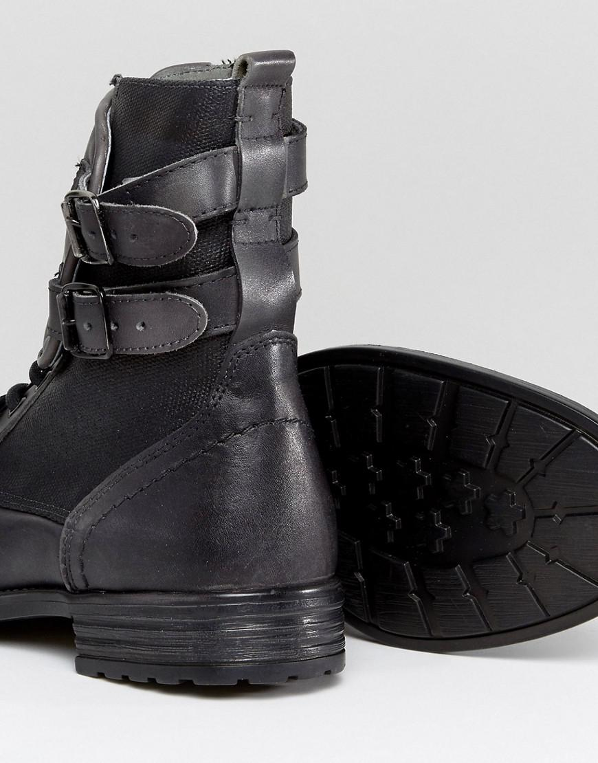 Collections Cheap Online Low Shipping Sale Online Galvaniz Leather Boots In Black - Black Steve Madden Clearance With Mastercard QlCQNpMC