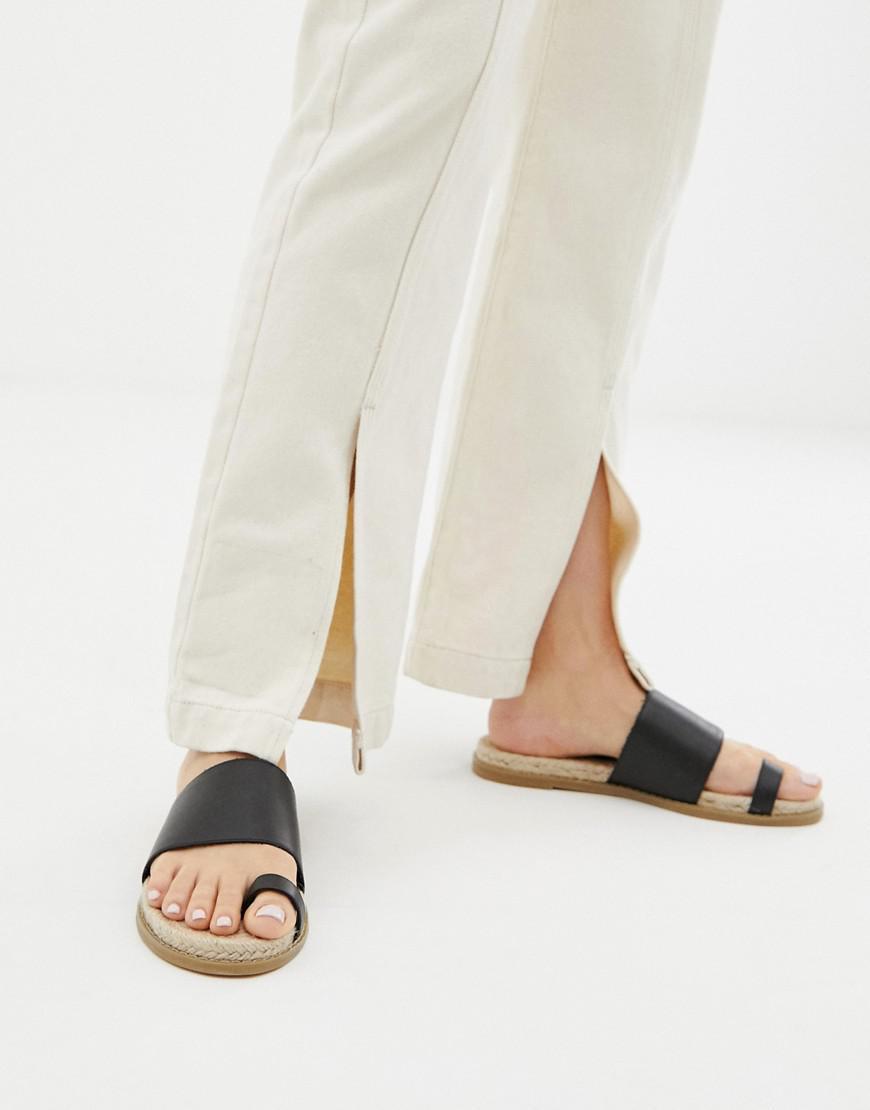 ad197cac39 Lyst - ASOS Jega Toe Post Espadrille Sandals in Black