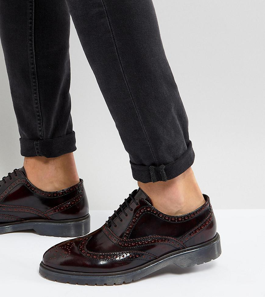 Cheapest Price Cheap Price Wide Fit Derby Brogue Shoes In Brown Faux Leather - Brown Asos Best Store To Get For Sale Cheap Sale 2018 New Cheap Price Store 60fJiad6F