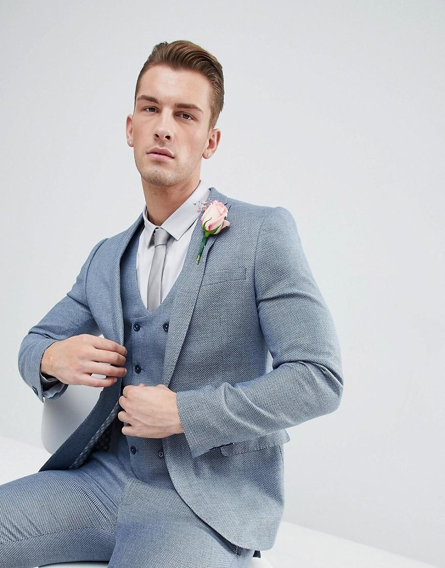 059ce0840e7a ASOS Wedding Skinny Suit Jacket In Pastel Blue in Blue for Men ...