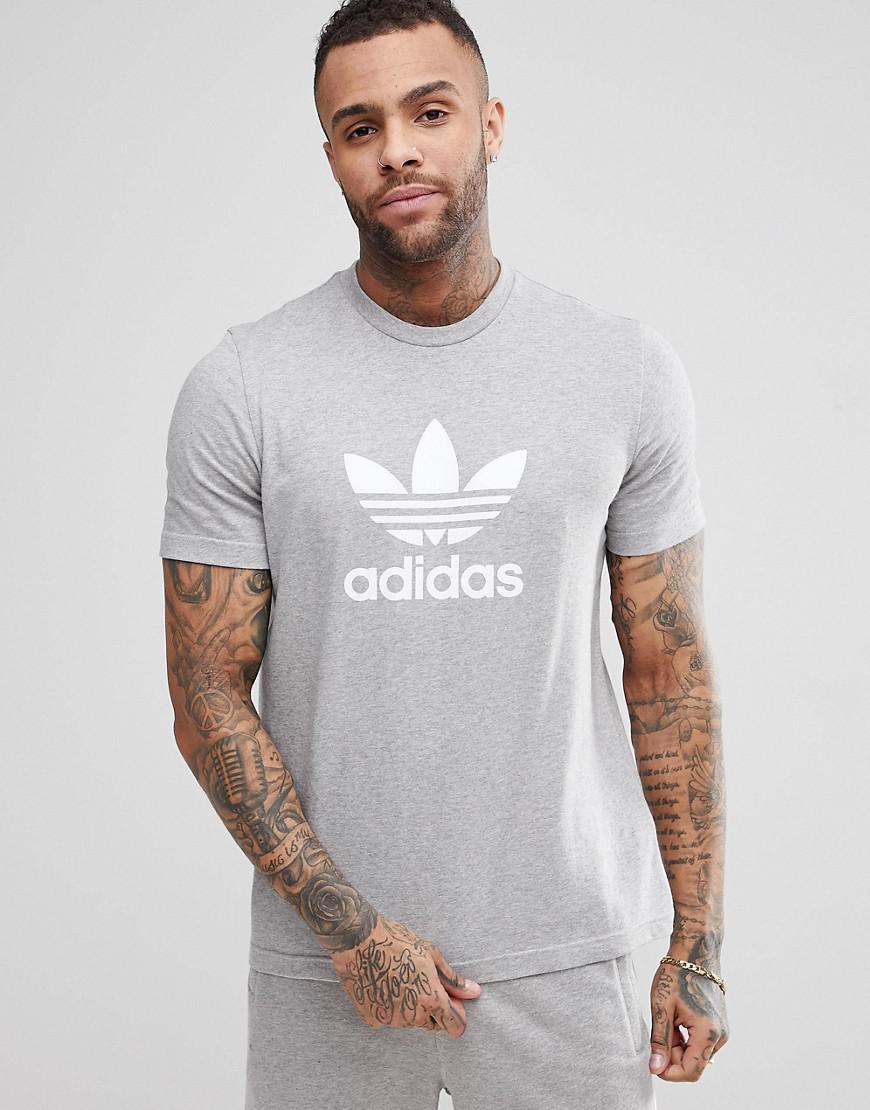 c83faa82aaa adidas Originals Trefoil State Short Sleeve T-shirt in Gray for Men ...