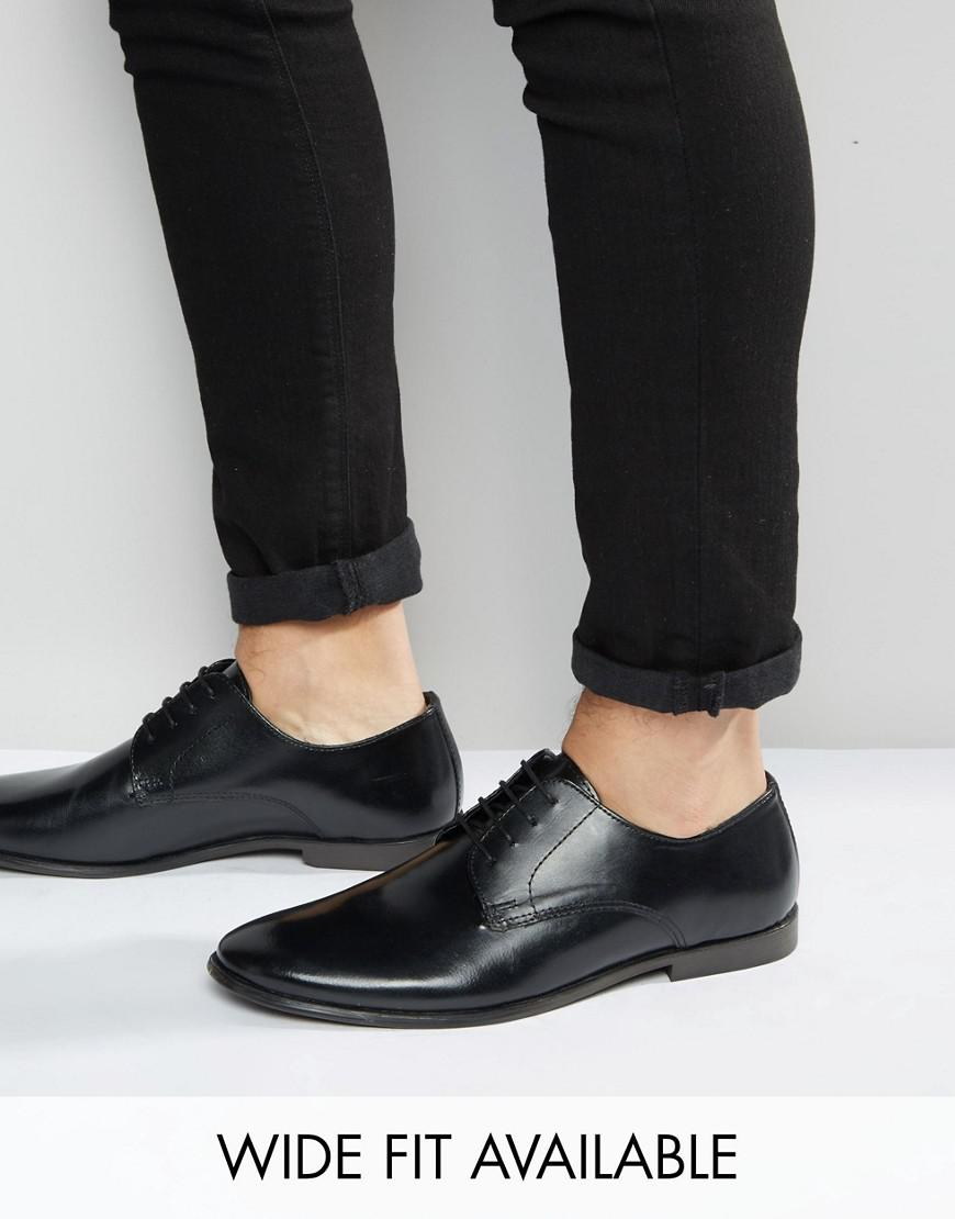 ASOS DESIGN Wide Fit derby shoes in black good selling sale online free shipping in China cheap sale shop offer supply cheap online IaH2w