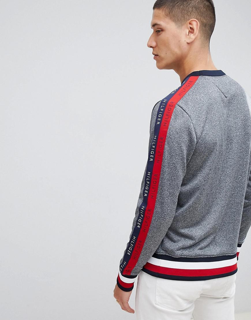 8105156a Tommy Hilfiger Sports Capsule Crewneck Icon Stripe Trim Sweatshirt ...