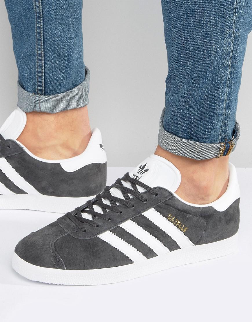 sale retailer 8fc68 b8b15 adidas Originals. Mens Gray Gazelle Trainers ...