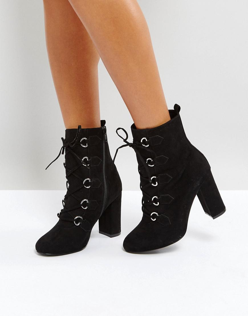 Black 'Bria' high block heel ankle boots 2014 newest online online shop from china discount 100% original shopping online free shipping free shipping extremely V0o7M