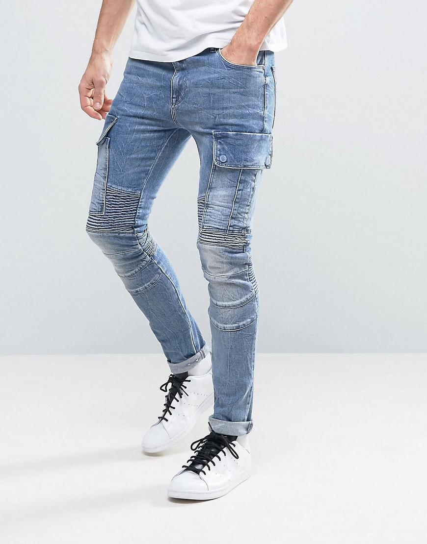 choose authentic new york best sell ASOS Denim Asos Super Skinny Jeans With Cargo Pockets And ...
