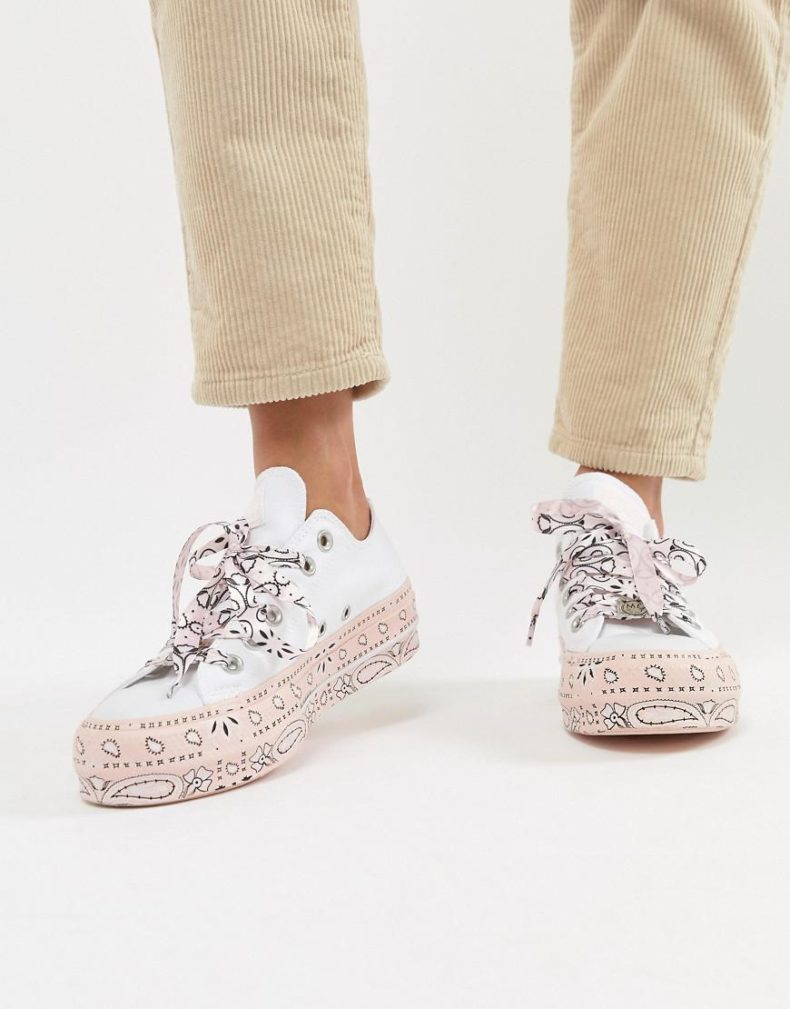 99de6a3ba8f55e Lyst - Converse X Miley Cyrus All Star Platform Sneakers In White ...