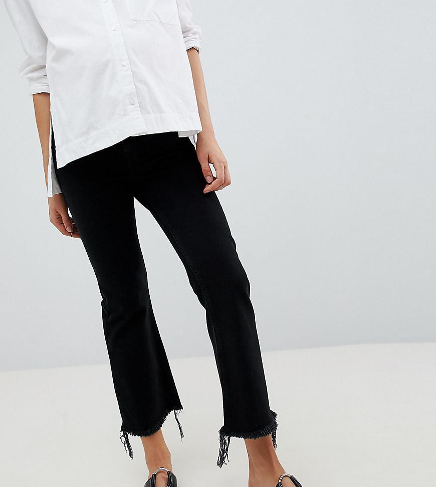 dc0c3d0e78fdb ASOS. Women's Asos Design Maternity Egerton Rigid Cropped Flare Jeans In  Washed Black ...