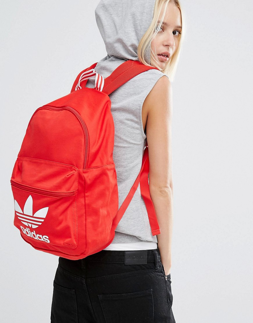 Lyst - adidas Originals Originals Backpack With Trefoil Logo in Red dfd057dd0e494