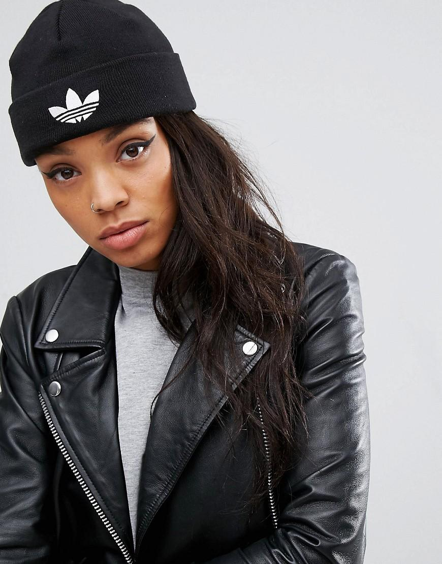 ... reduced adidas originals originals knitted beanie with trefoil logo in  black b8373 a6764 ... 74f517654168