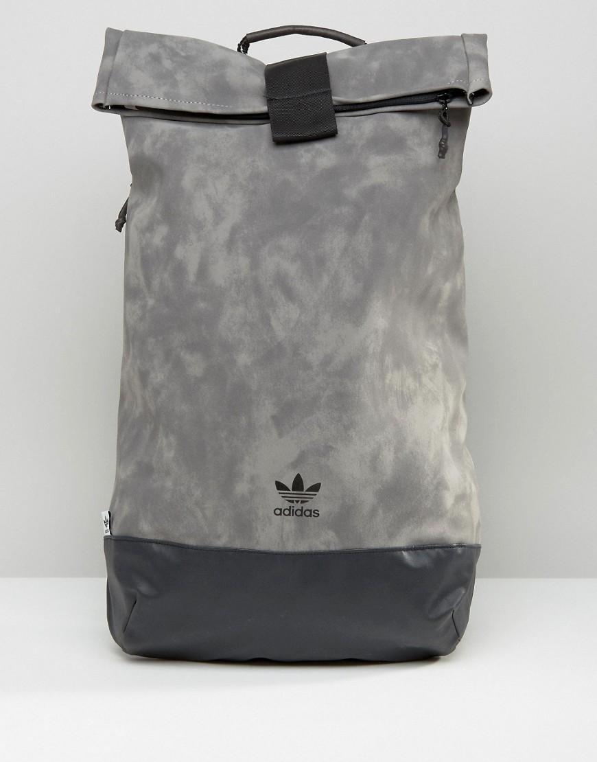 41e8029dbdf adidas Originals Originals Suede Look Rolltop Backpack - Grey in ...