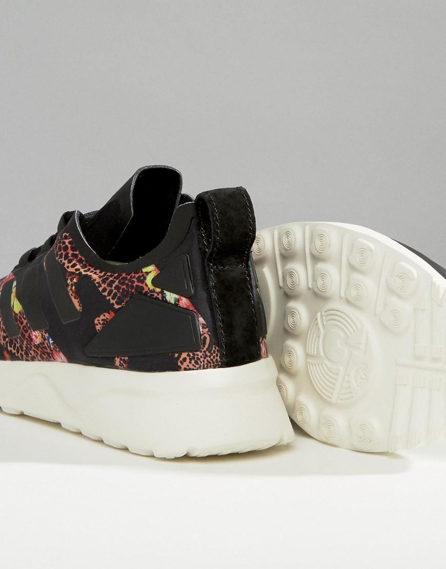 lyst adidas originals zx flux leopardenmuster turnschuhe