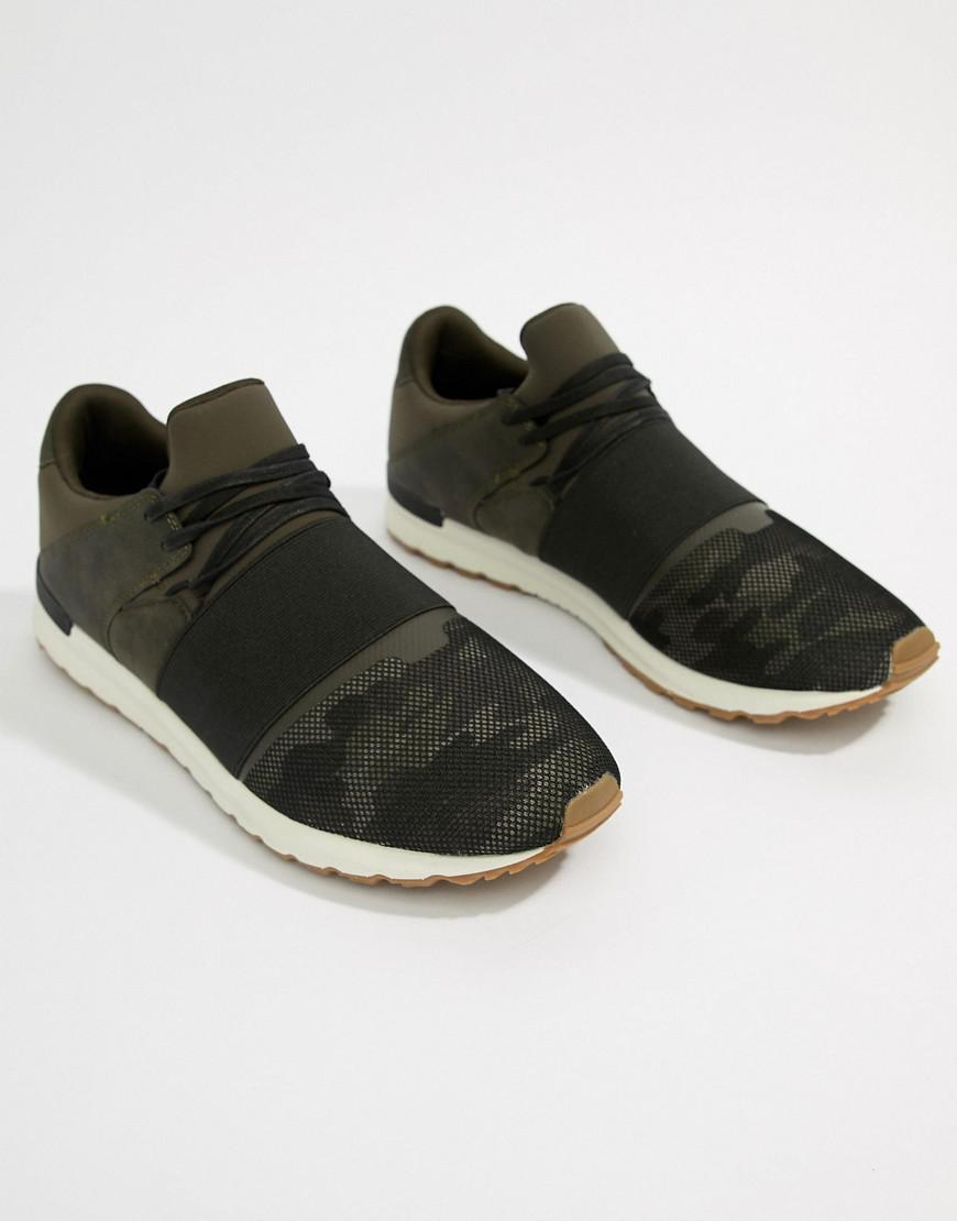 Pull&Bear trainer in khaki with black detailing sale 2014 newest classic for sale sale 2015 new outlet Manchester cheap price outlet 8nRxBM6