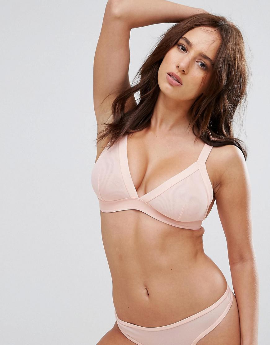 b5aa64bdf2 ASOS Fuller Bust Eden Mesh Triangle Bra in Pink - Save 50% - Lyst