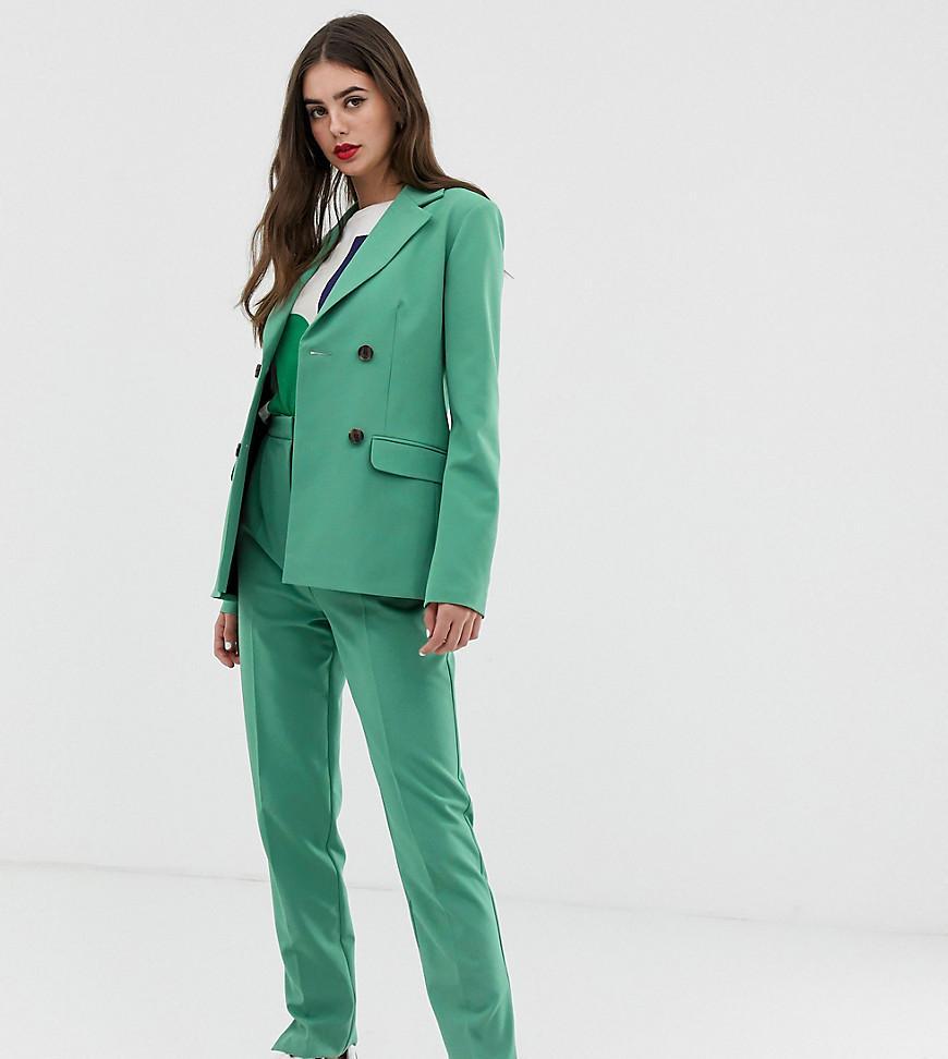 4dcc084ecf Lyst - Pantalones de traje de corte slim en salvia de ASOS DESIGN ...