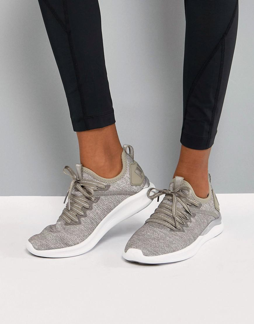 ce7941d8b96fdf Lyst - PUMA Running Ignite Flash Evoknit Sneakers In Stone in Gray