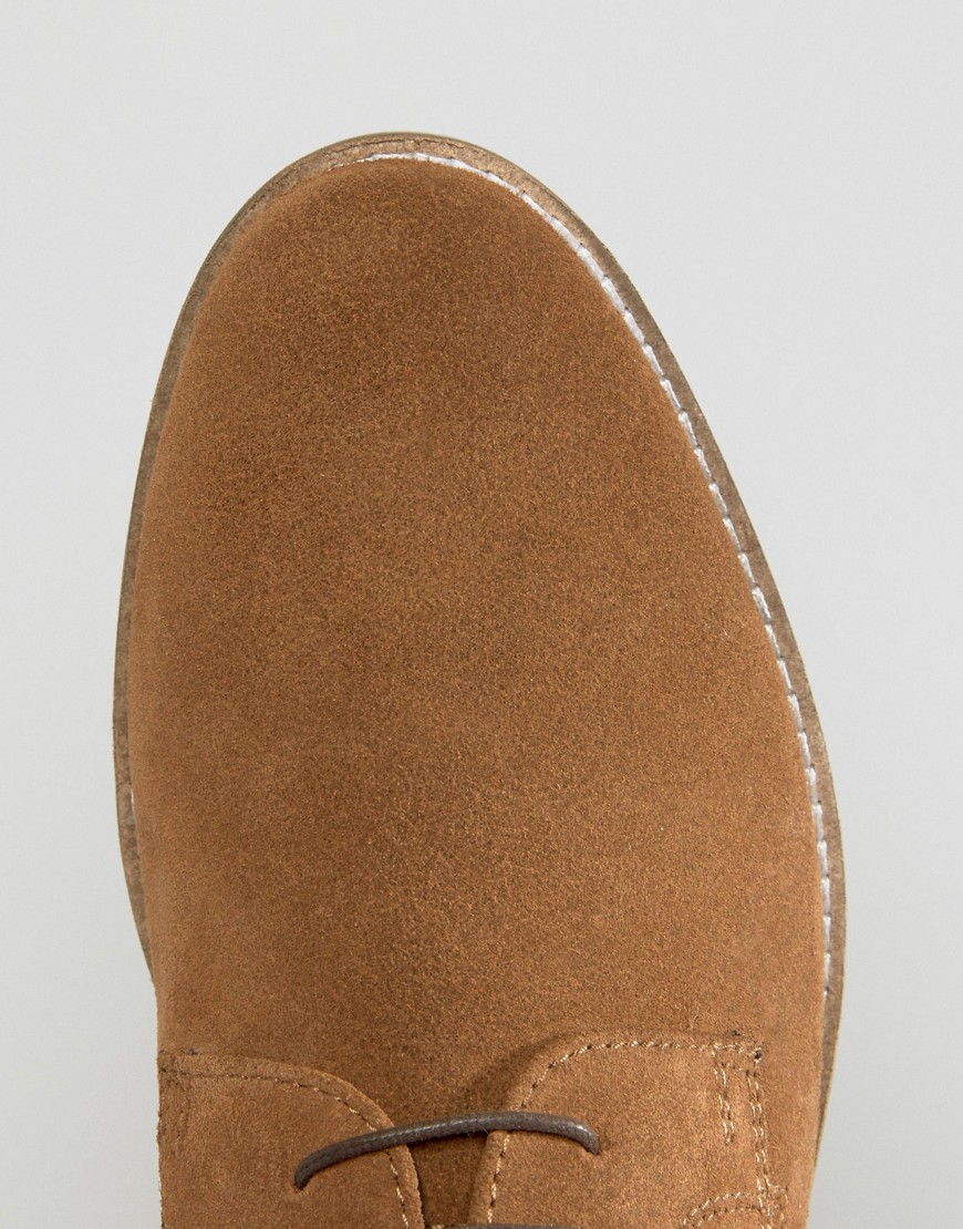 Red Tape Derby Shoes In Suede