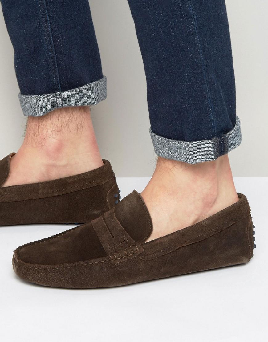 4bf0899adcf Lyst - Aldo Feiria Suede Penny Loafer Drivers in Brown for Men