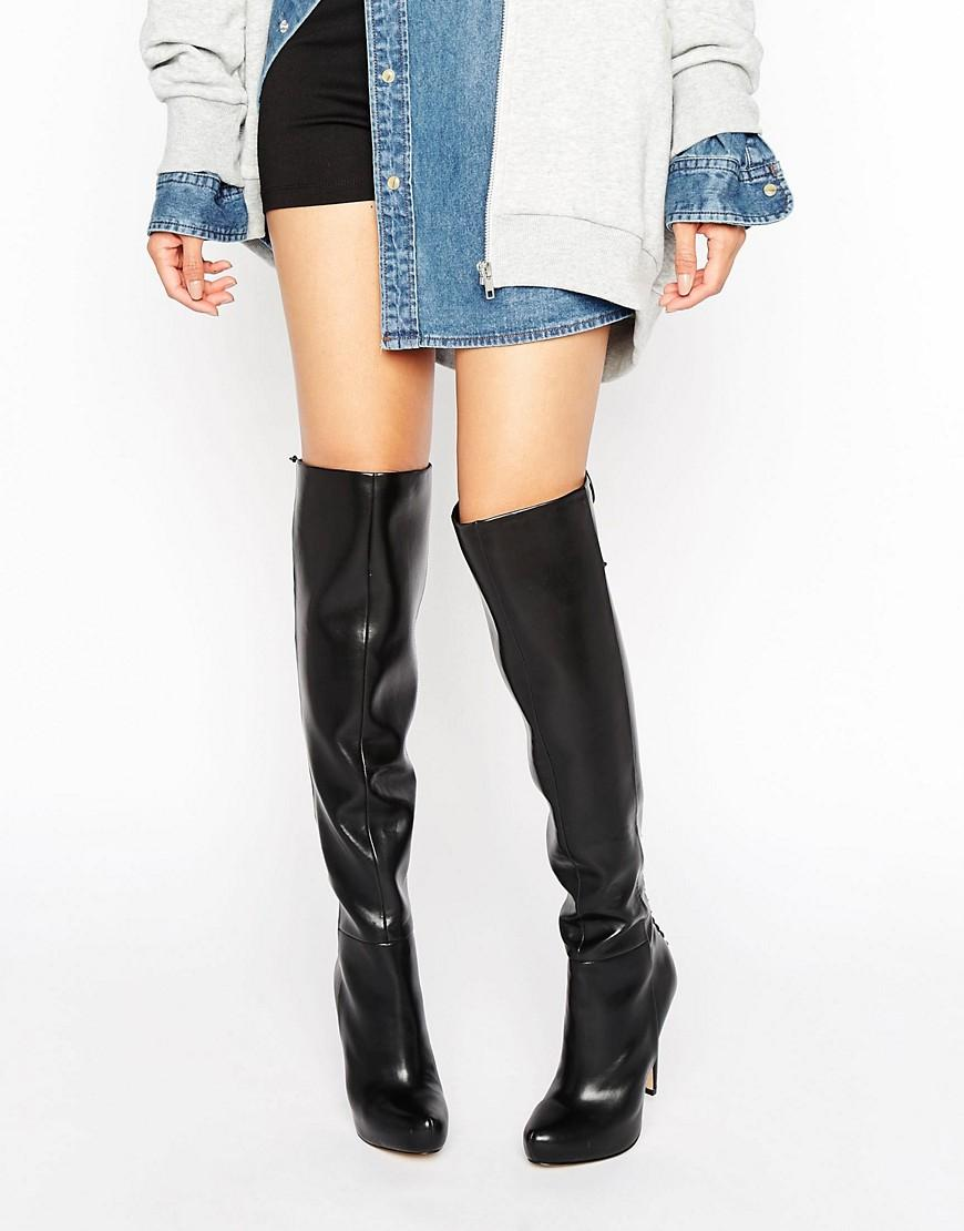 cd4abc02d ALDO Graziella Lace Back Platform Heeled Over The Knee Boots in ...