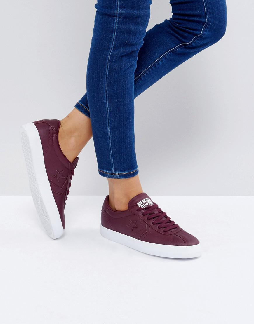 ec604fb6b115 Lyst - Converse Breakpoint Leather Trainers In Burgundy in Red