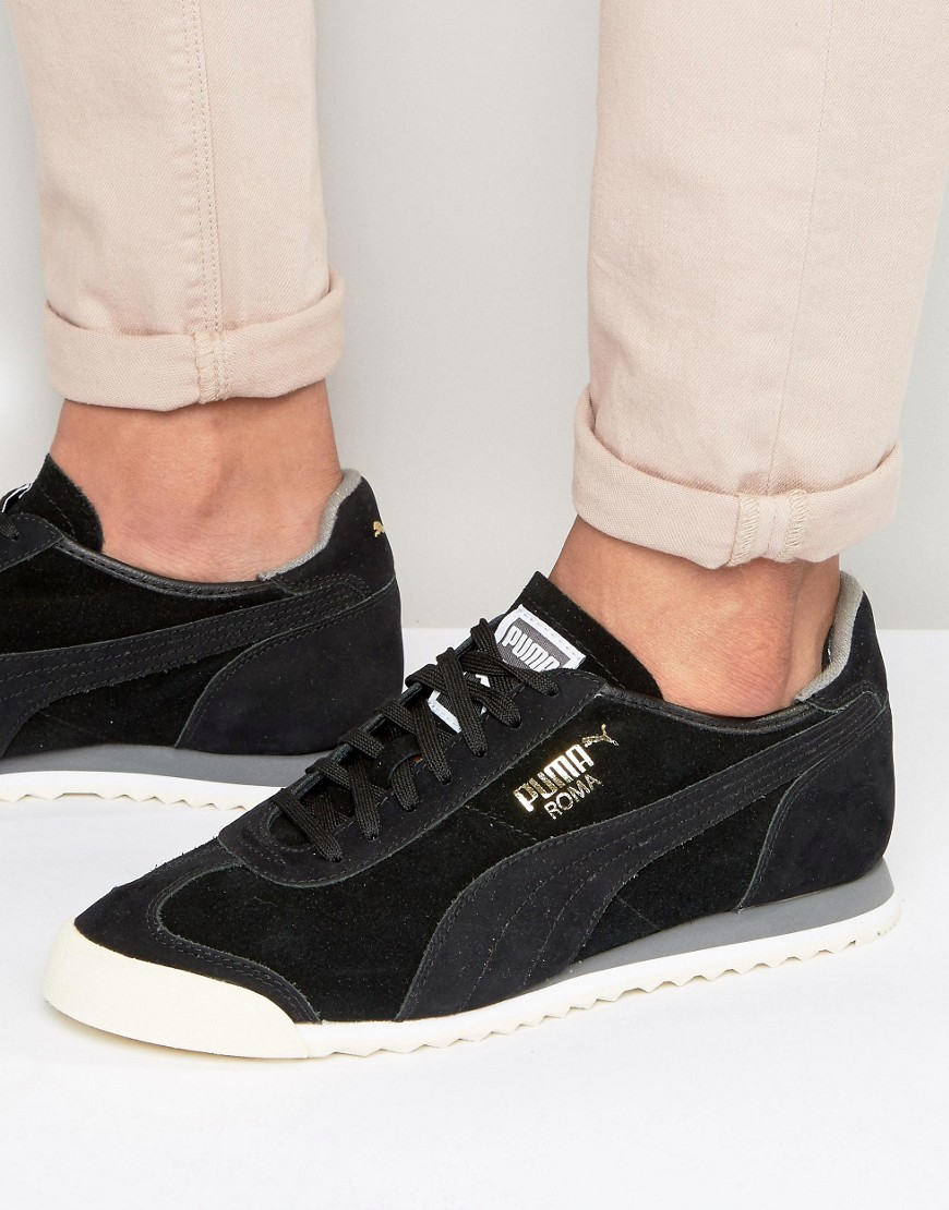 Lyst - Puma Roma Og Leather Sneakers In Black 36132002 - Black in ... 01e7bb581246