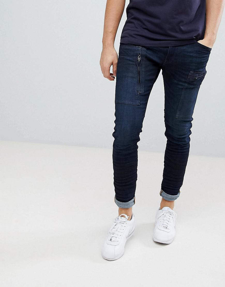 bab2173db26 G-Star RAW Powel Super Slim Jean 3d Cobler Processed in Black for ...