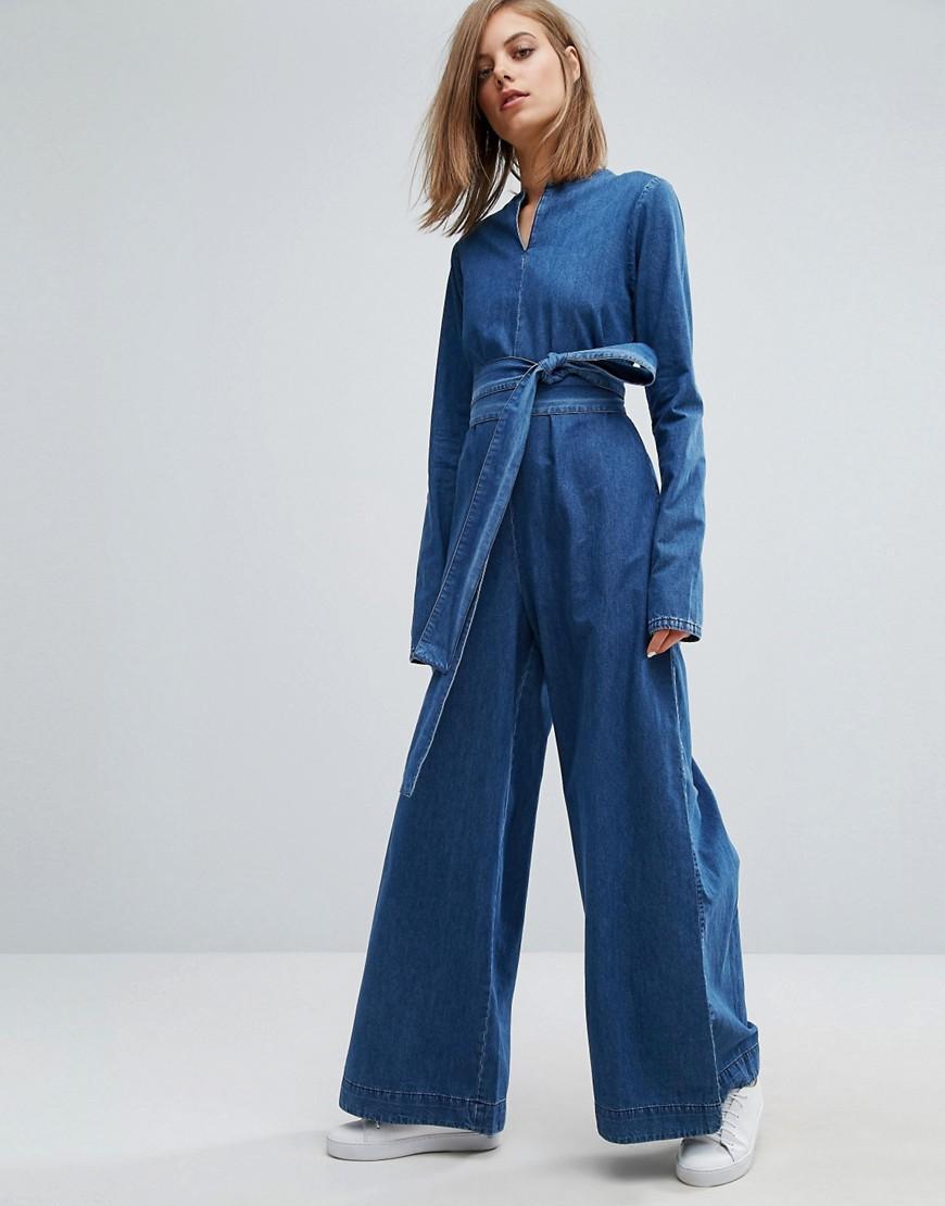 Lyst Wåven Rosalin Wide Leg Jumpsuit In Blue