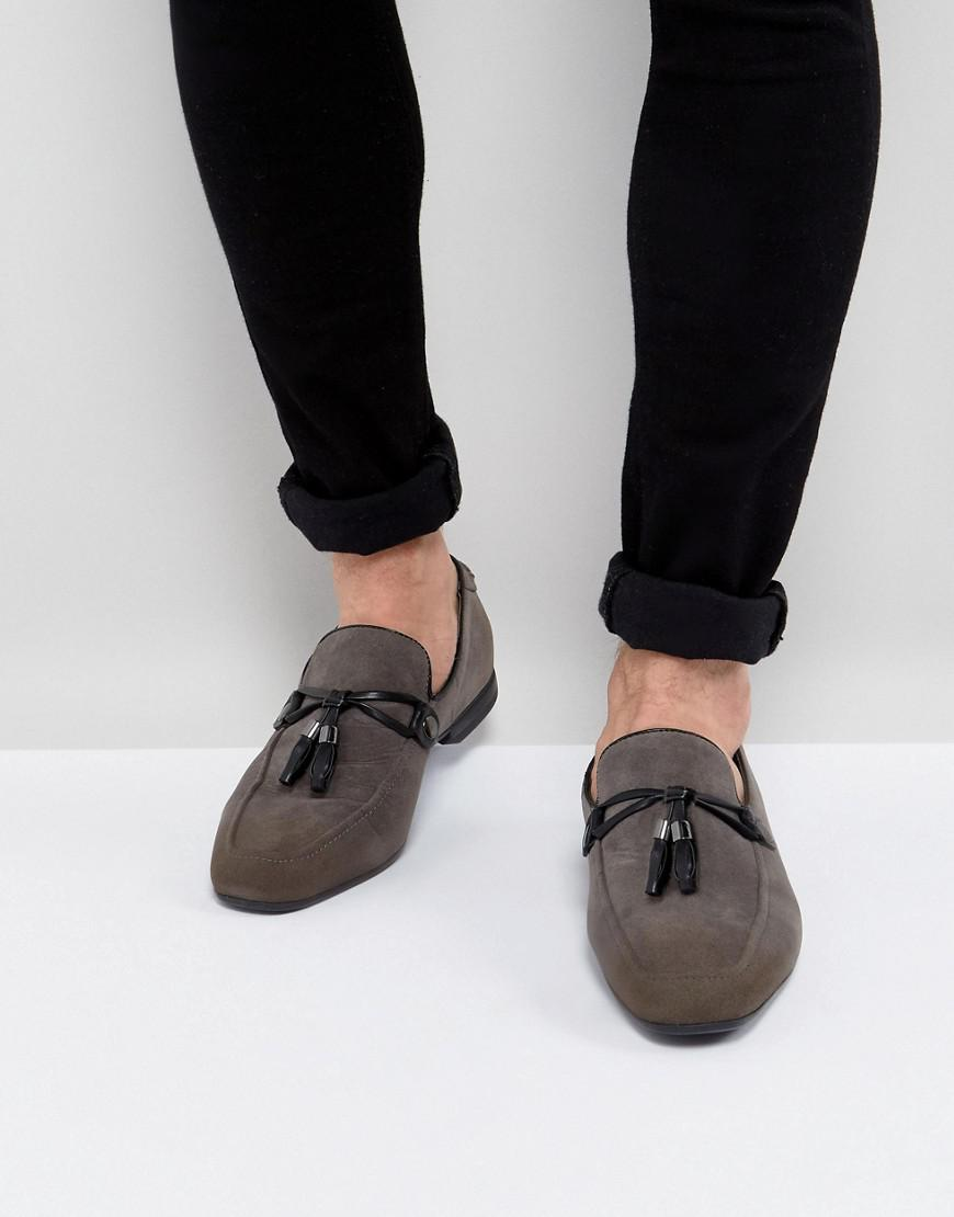 ASOS DESIGN Wide Fit tassel loafers in faux suede M4gcTT