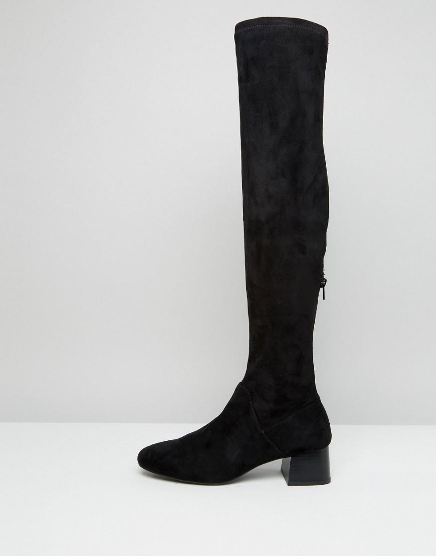 93335ceff730 Lyst - Mango Suedette Over The Knee Heeled Boot in Black
