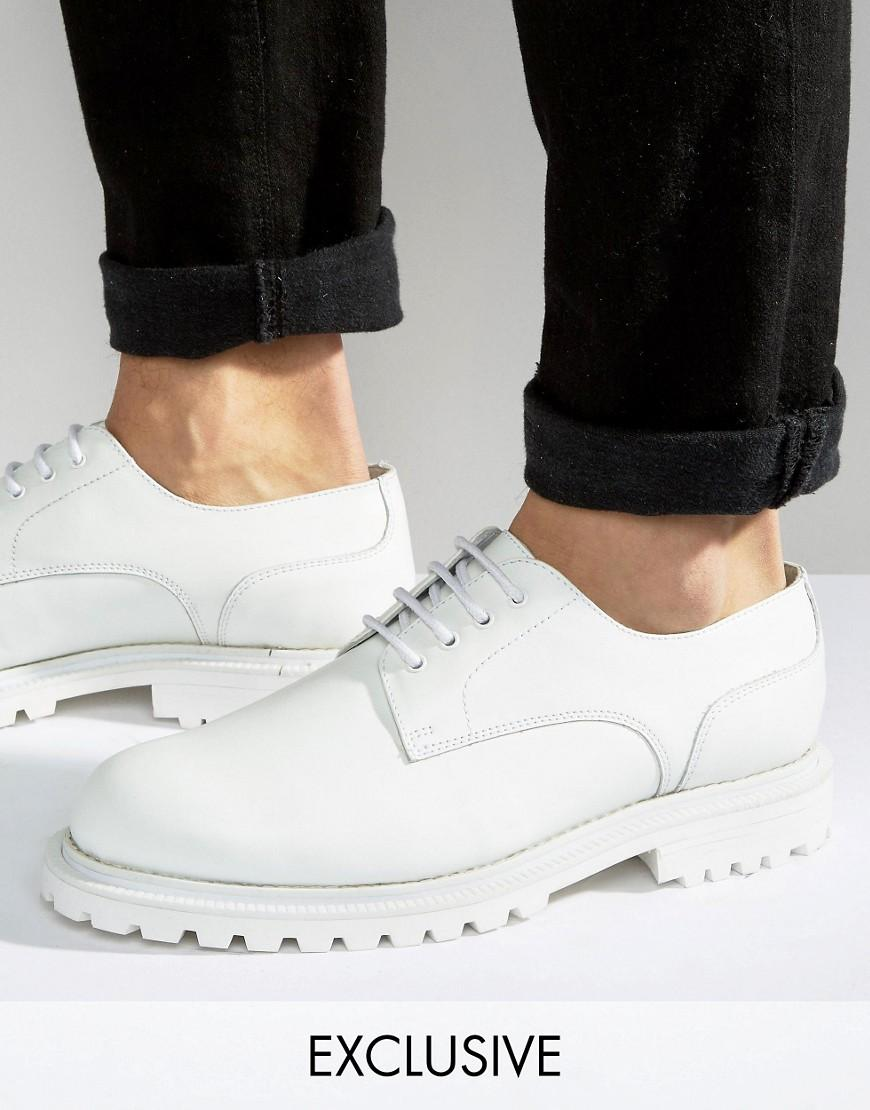 Asos White Chunky Lace Up Shoes
