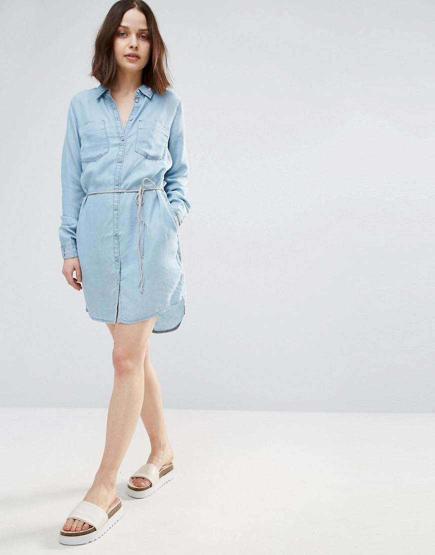 56695dee33 ONLY Henna Denim Shirt Dress in Blue - Lyst