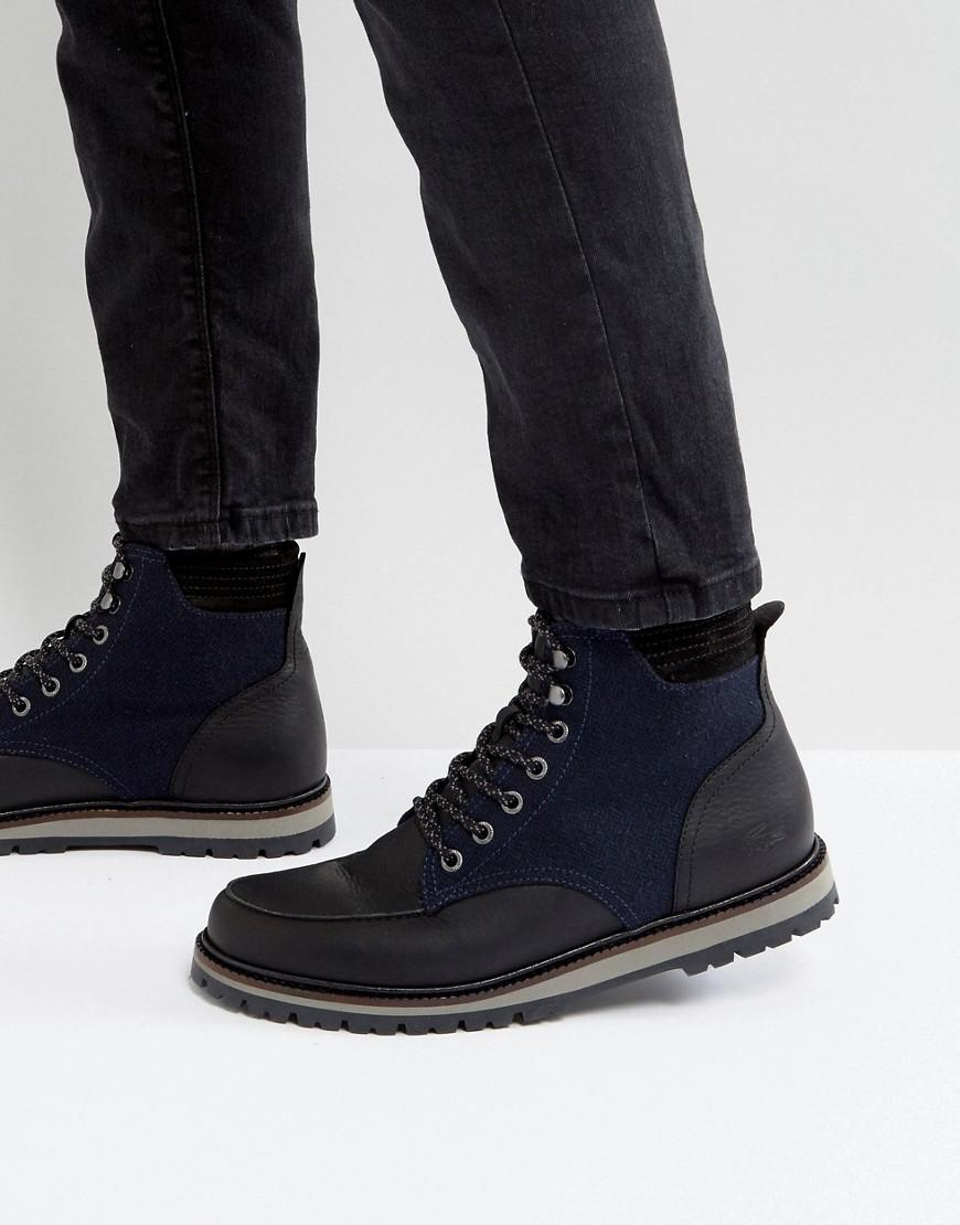 14f403b8f10 Lacoste Montbard Pique Boots in Black for Men - Lyst