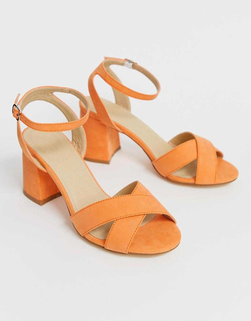 403e15a7e075b Truffle Collection Block Heel Sandals in Gray - Lyst
