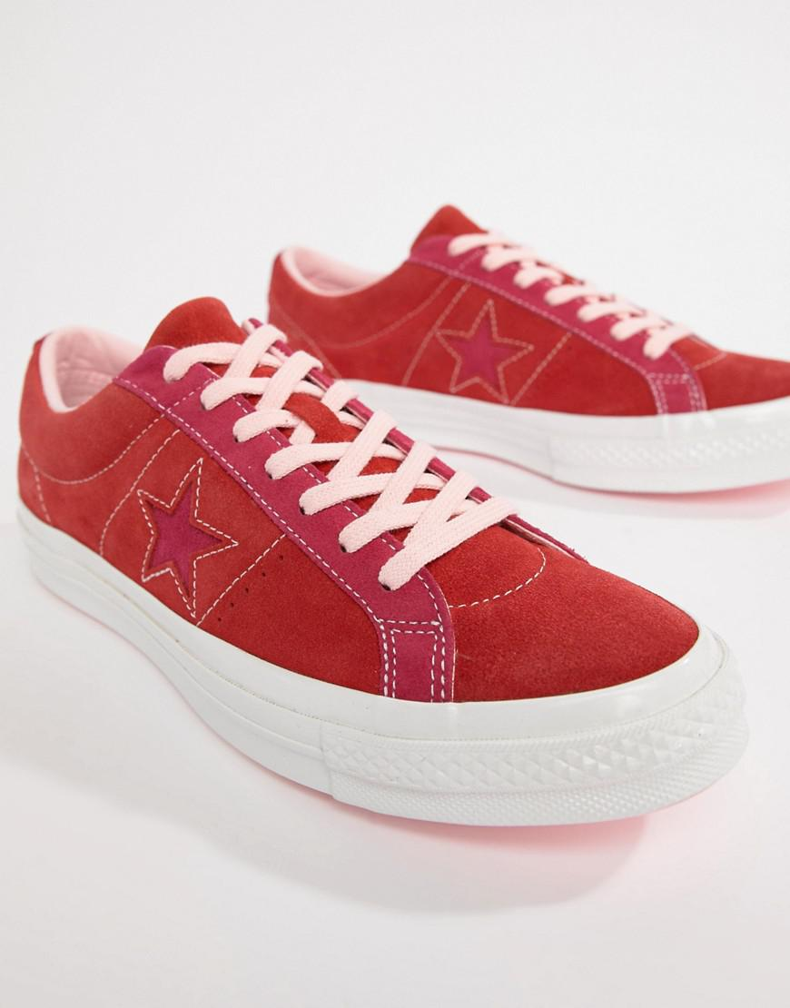 68b7c880da70 Lyst - Converse One Star Ox Sneakers In Red 161613c in Red for Men