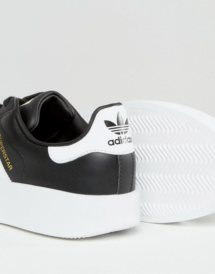 499cf761bce2 Lyst - adidas Originals Originals Bold Double Sole Black And White ...