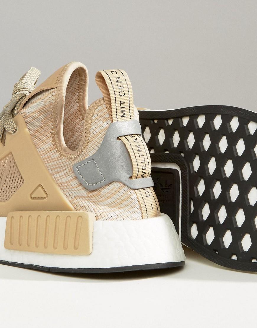 adidas originals originals beige nmd xr1 sneakers in natural lyst. Black Bedroom Furniture Sets. Home Design Ideas