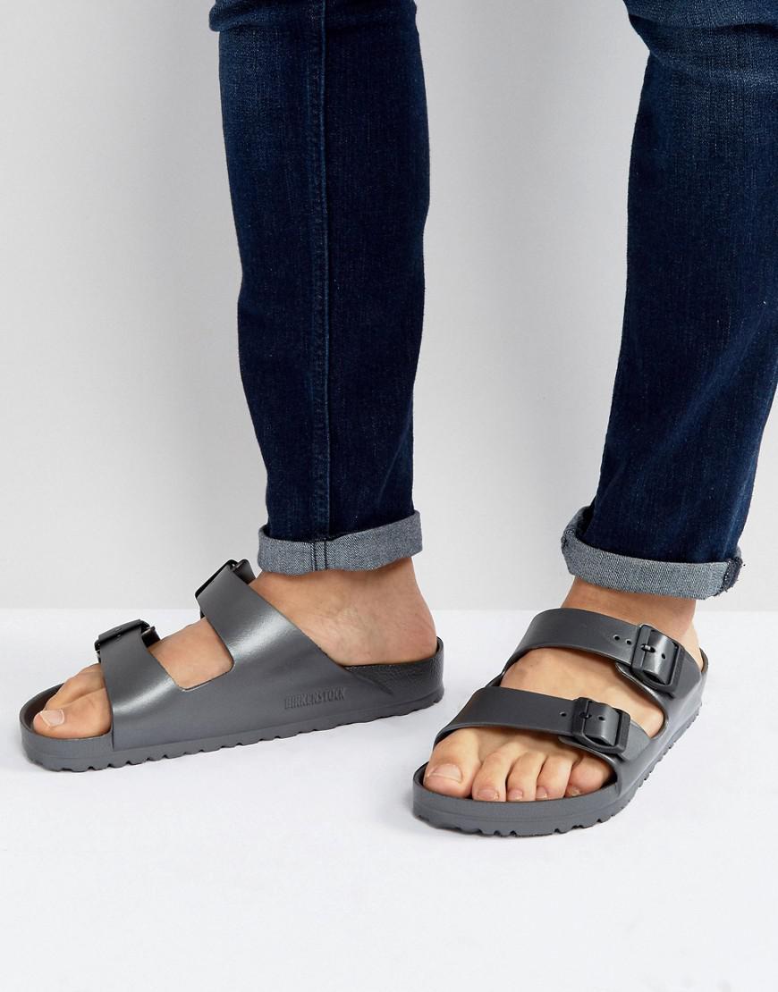 bff01d17c36a9c Birkenstock Arizona Eva Metallic Sandals In Anthracite in Gray for ...