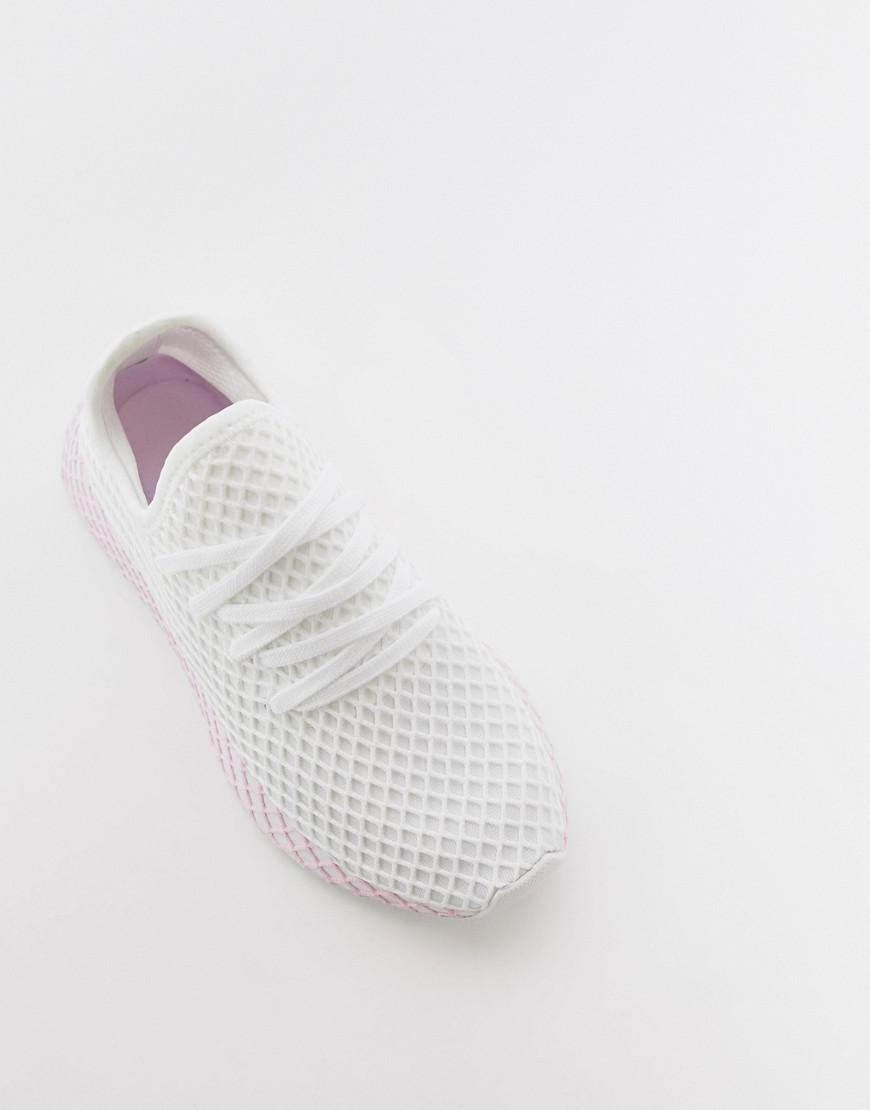 reputable site 11572 2b9d1 Lyst - adidas Originals Deerupt Sneakers In White And Lilac