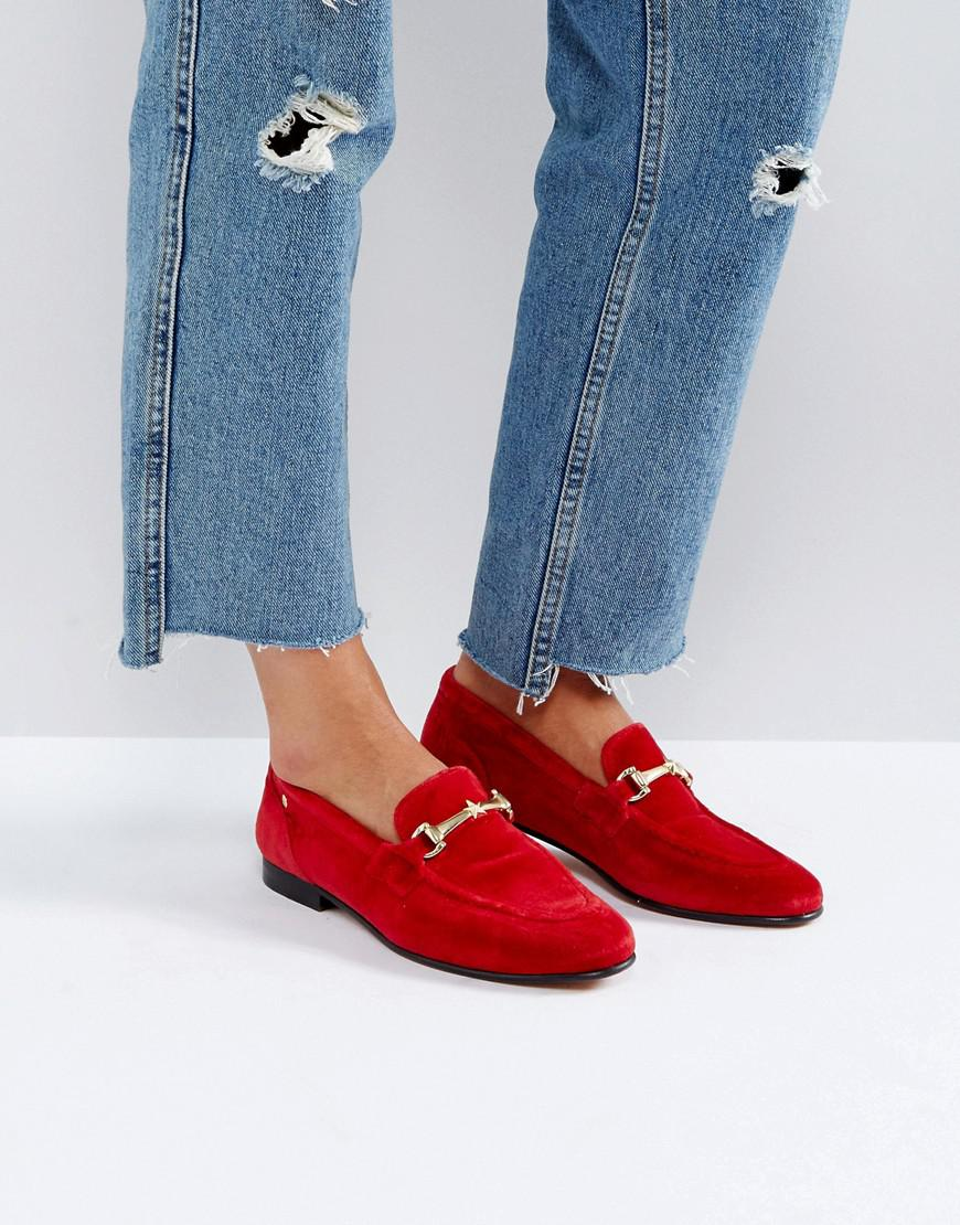 2a8bb0bbd5ff94 Lyst - Tommy Hilfiger Velvet Loafer With Star Snaffle in Red