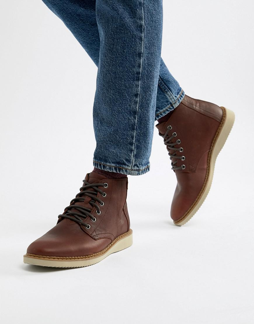 0f808a2d12c TOMS Porter Water Resistant Lace Up Boots In Brown in Brown for Men - Lyst
