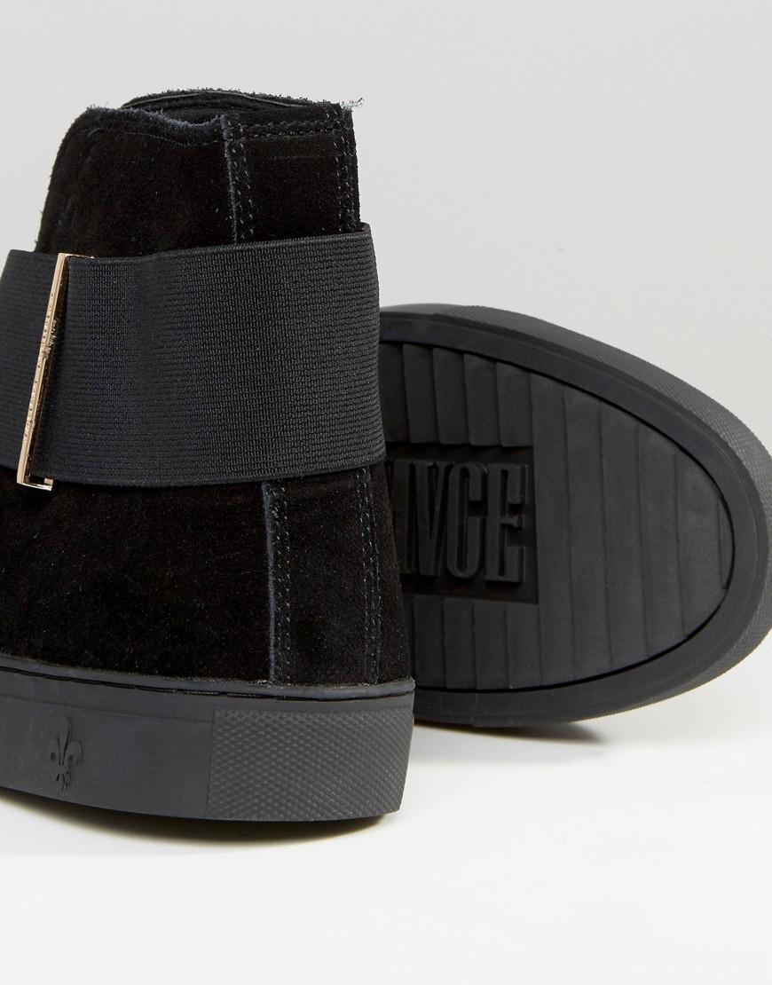 huge discount 3412e 115ed Criminal Damage Flight Mid Top Sneakers in Black for Men - Lyst