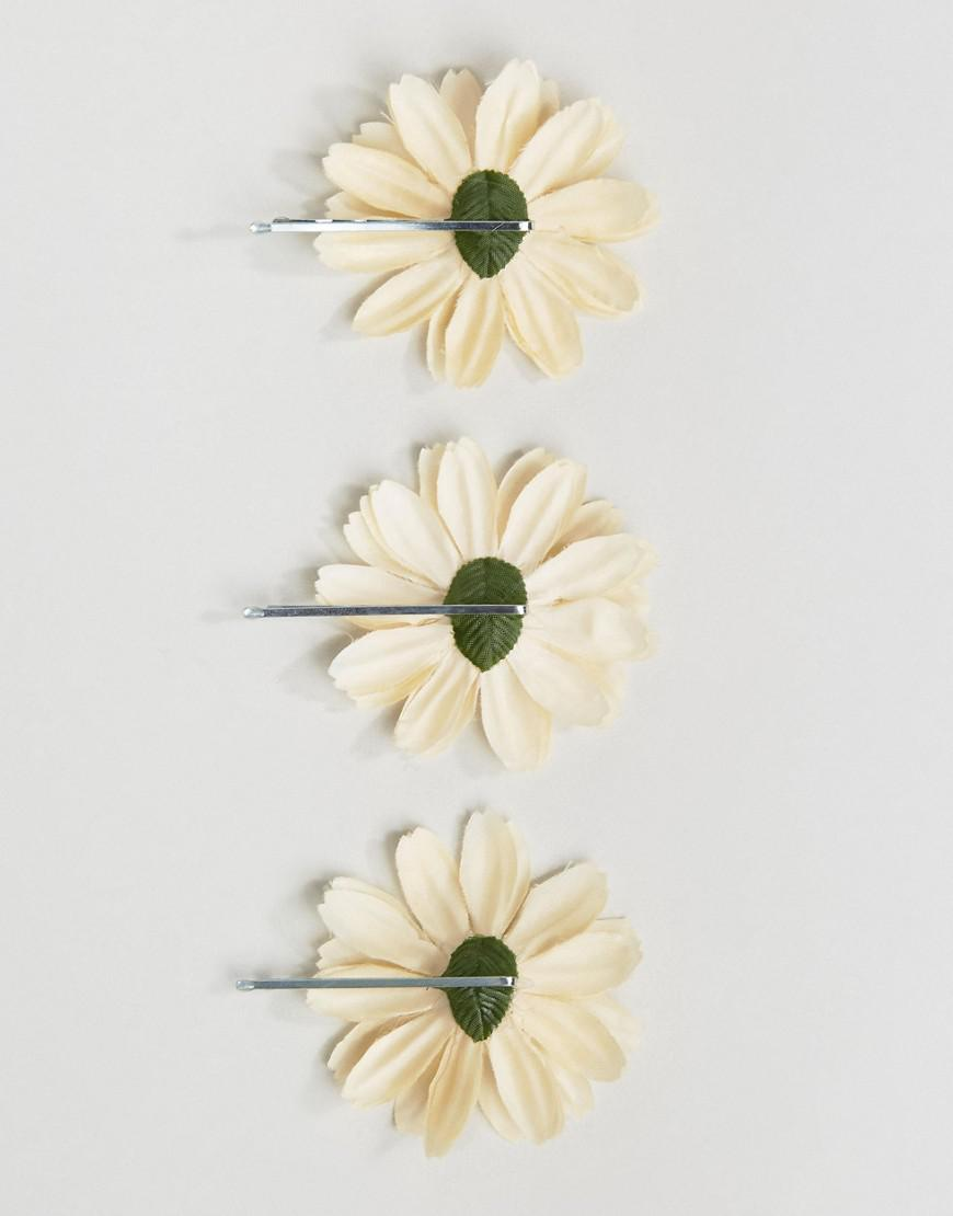 Lyst Asos Pack Of 3 Festival Large Daisy Hair Clips