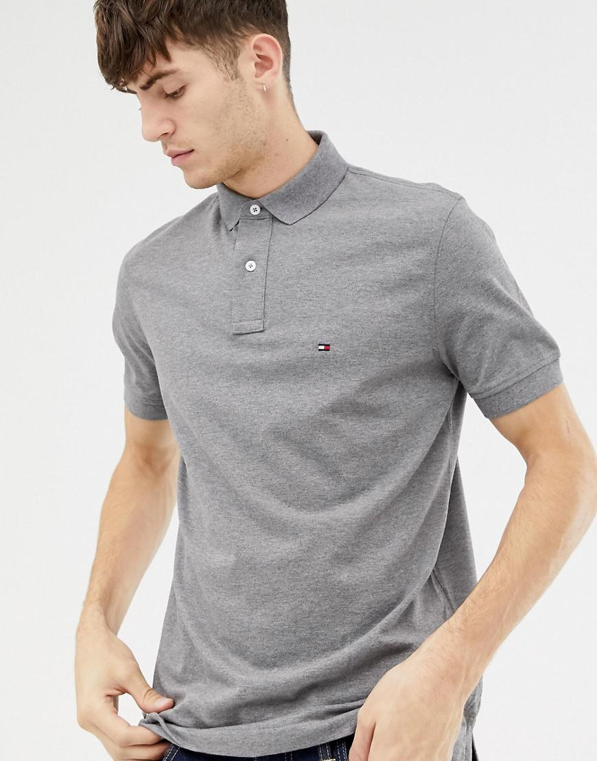8f52a9274 Tommy Hilfiger Basic Polo Shirt in Gray for Men - Lyst
