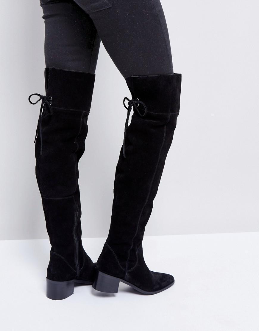 ASOS KOI Suede Over The Knee Boots qNdENGeCwx