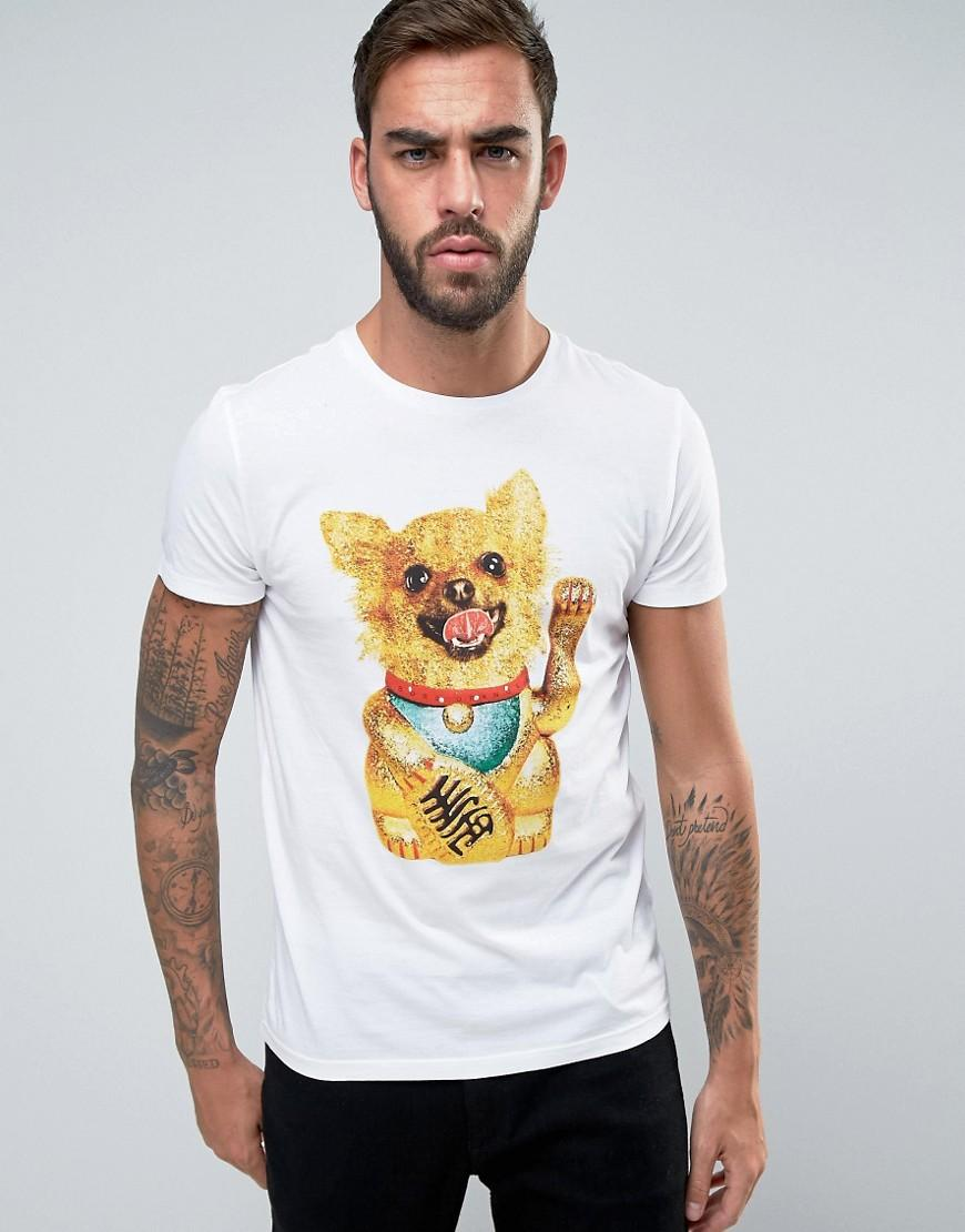 b63e69825e BOSS Orange By Hugo Boss Dog Print T-shirt Regular Fit in White for ...