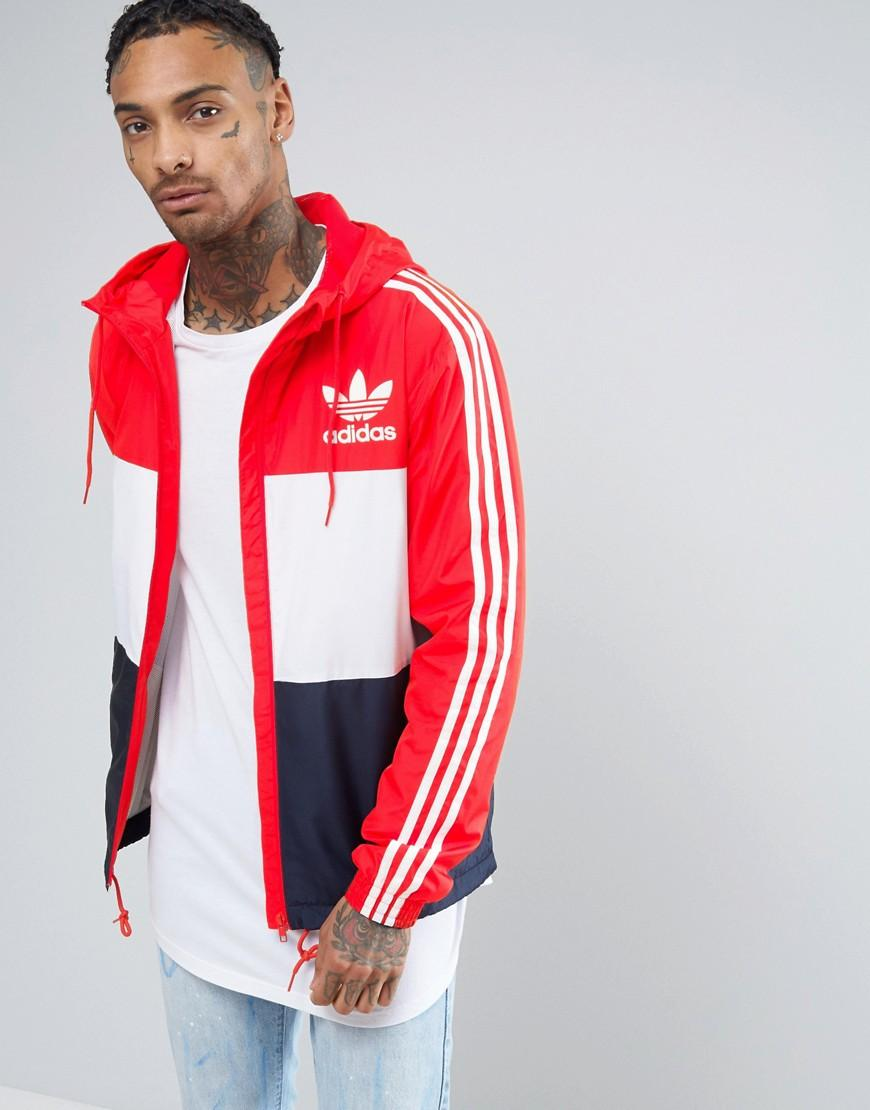 b538ddbb4ad8 Lyst - adidas Originals Clfn Windbreaker In Red Bk5939 in Blue for Men