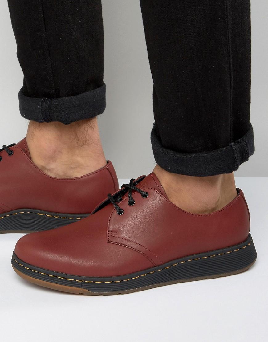 67050b1294 Dr. Martens Lite Cavendish 3 Eye Shoes in Red for Men - Lyst